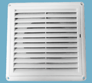 Plastic Diffusers with Louver and Net