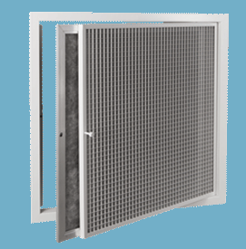 TEC-ECGHF Egg Crate Grilles with hinged filter